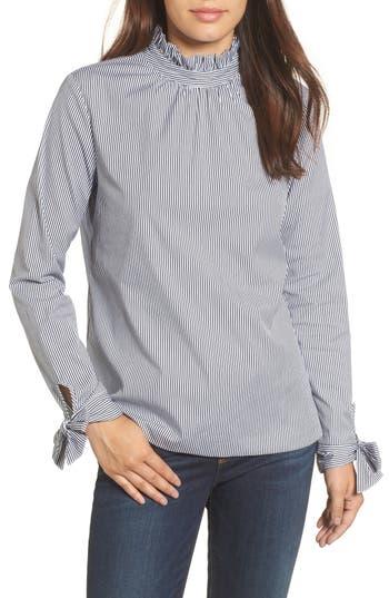 Women's Halogen Tie Sleeve Poplin Shirt