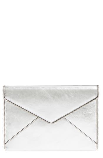 Rebecca Minkoff Leo Mirror Metallic Envelope Clutch - Metallic