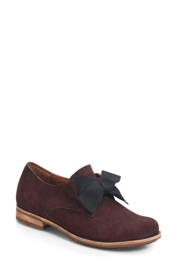 Women's Kork-Ease Beryl Bow Flat, Size 6 M - Burgundy