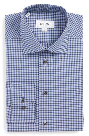 Men's Eton Contemporary Fit Check Dress Shirt