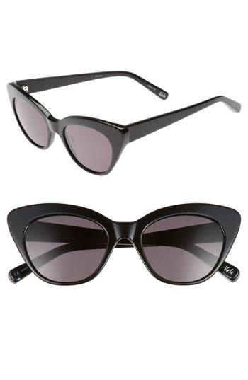 Women's Elizabeth And James Vale 52Mm Cat Eye Sunglasses - Crystal Tea