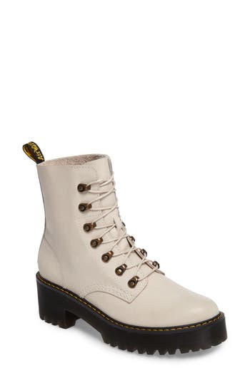 Dr. Martens Leona Heeled Boot, White