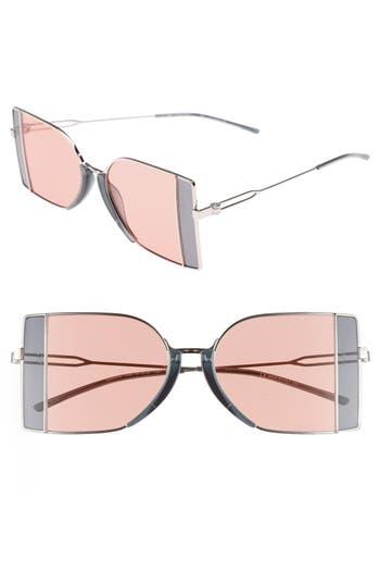 Calvin Klein 205W39Nyc 51Mm Butterfly Sunglasses - Nickel