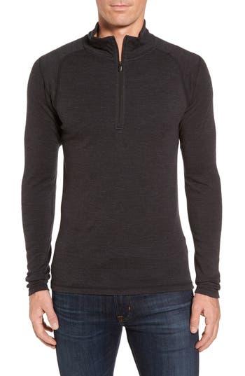 Smartwool Merino 250 Base Layer Quarter Zip Pullover, Grey