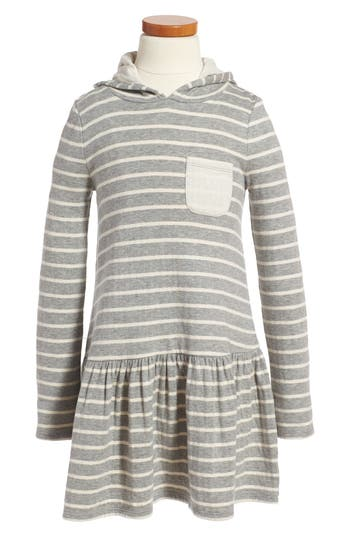 Girl's Tucker + Tate Stripe Hoodie Knit Dress