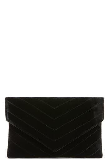 Shiraleah Alexis Velvet Envelope Clutch - Black