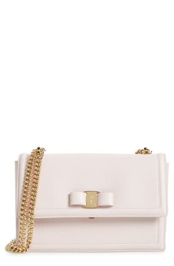 Salvatore Ferragamo Medium Ginny Leather Shoulder Bag -
