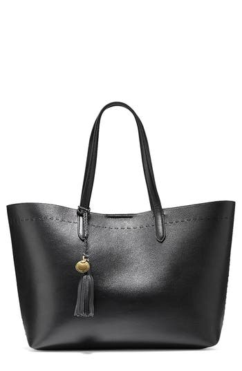 Cole Haan  PAYSON LEATHER TOTE - BLACK