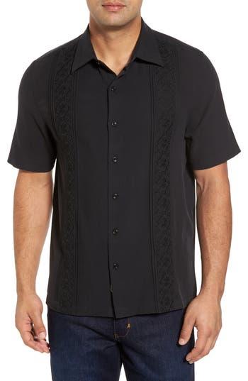 Men's Nat Nast Regular Fit Embroidered Silk Sport Shirt