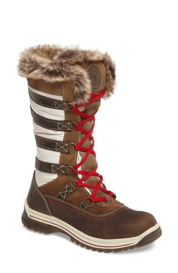 Women's Santana Canada Milani Waterproof Faux Fur Boot, Size 6 M - White