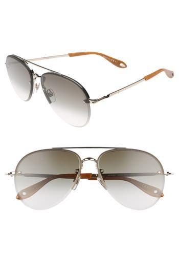 Givenchy 62Mm Oversize Aviator Sunglasses - Light Gold