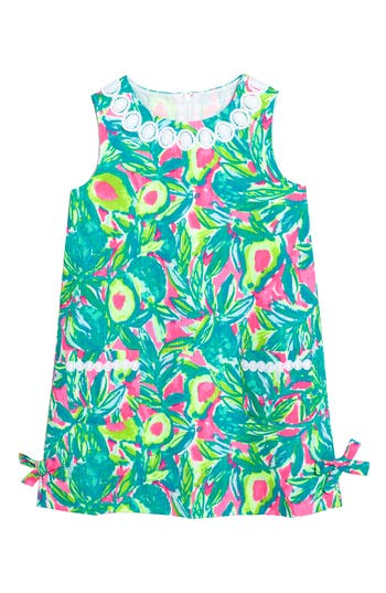 Girl's Lilly Pulitzer Little Lilly Shift Dress, Size 7 - Green