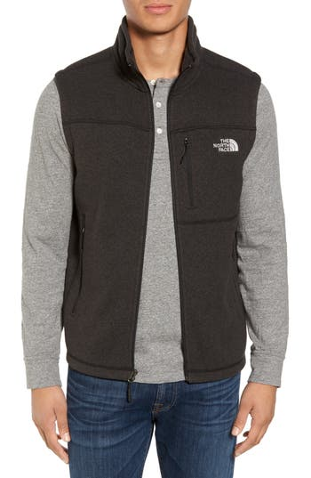 Men's The North Face Gordon Lyons Zip Fleece Vest, Size Small - Black