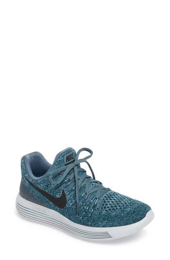 Women's Nike Lunarepic Low Flyknit 2 Running Shoe, Size 5.5 M - Blue