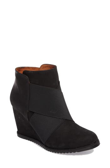 Gentle Souls Georgia Wedge Bootie, Black