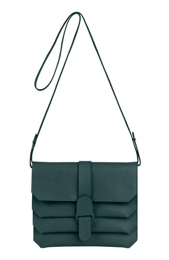 Senreve Pebbled Leather Crossbody Bag - Green