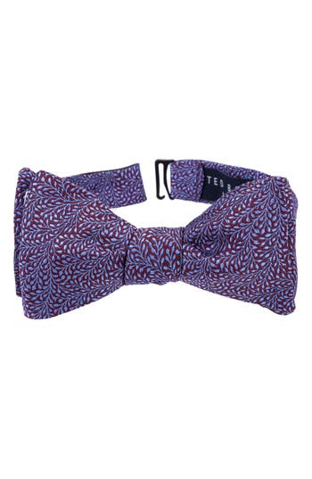 Men's Ted Baker London Grand Botanical Silk Bow Tie, Size One Size - Red