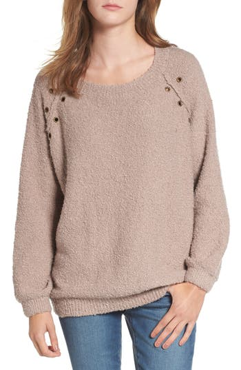 Women's Dreamers By Debut Grommet Detail Sweater, Size X-Small - Brown