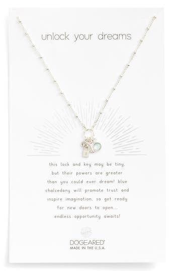 Women's Dogeared Unlock Your Dreams Lock & Key Charm Pendant Necklace