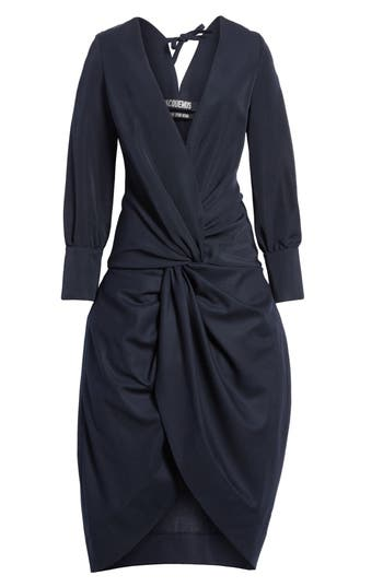 Women's Jacquemus Ruched Long Sleeve Dress