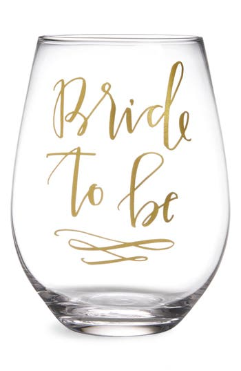 Slant Collections Bride To Be Stemless Wine Glass, Size One Size - White