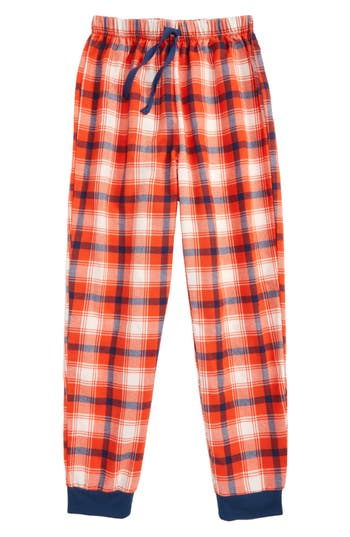 Boy's Tucker + Tate Flannel Jogger Pants, Size S (7-8) - Red