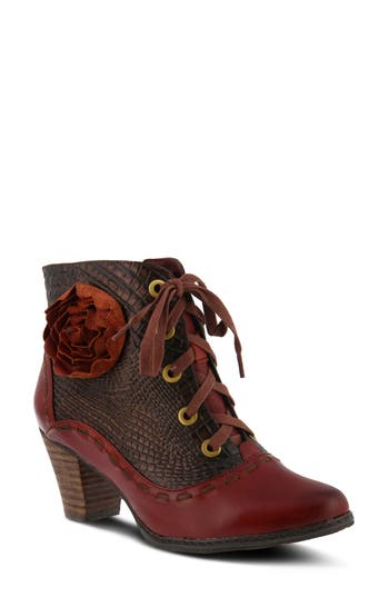 Retro Boots, Granny Boots, 70s Boots Womens LArtiste Sufi Bootie Size 10.5-11US  42EU - Red $169.95 AT vintagedancer.com