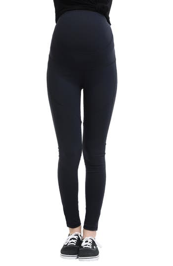 Kimi And Kai Blair High Performance Full Panel Maternity Leggings, Black