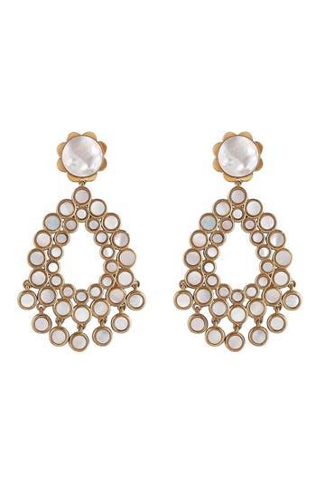 Women's Asha Flower Chandelier Earrings
