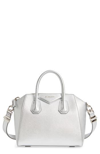 Givenchy Small Antigona Metallic Leather Satchel - Metallic