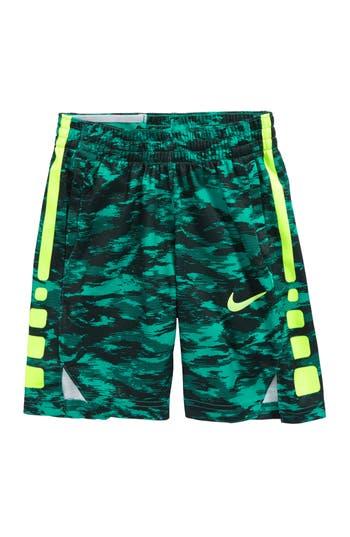 Boy's Nike Dry Elite Basketball Shorts, Size XS (7) - Green