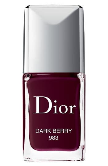 Dior Vernis Gel Shine & Long Wear Nail Lacquer - 983 Dark Berry / Exclusive