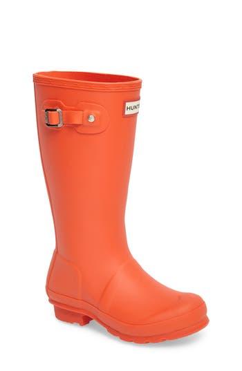 Kid's Hunter 'Original' Rain Boot, Size 5 M - Blue