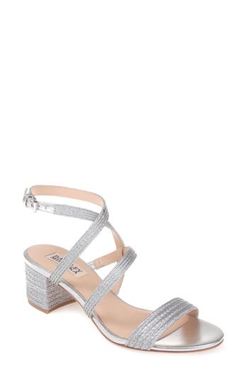 Women's Badgley Mischka Storm Block Heel Sandal, Size 10 M - Metallic