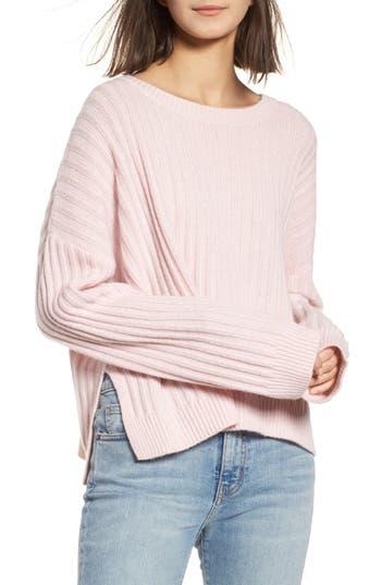 Rails Joelle Rib Wool & Cashmere Sweater, Pink