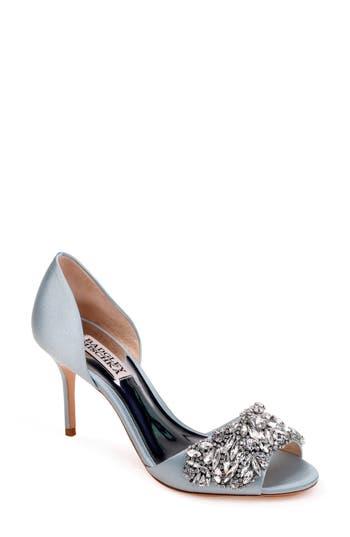 Badgley Mischka Hansen Crystal Embellished Sandal, Blue
