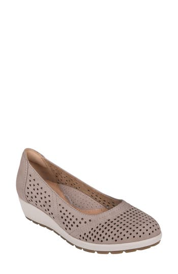 Earth Violet Wedge- Beige