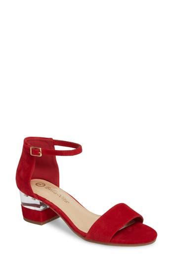 Bella Vita Fitz Block Heel Sandal, Red