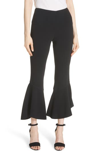 Cinq A Sept Benton Flare Hem Pants, Black