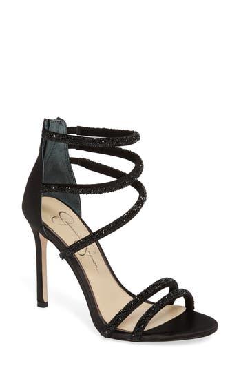 Jessica Simpson Jamalee Glitter Sandal- Black