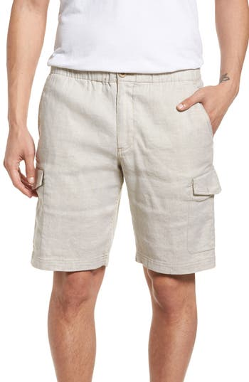 Big & Tall Tommy Bahama Beach Linen Blend Cargo Shorts, Brown