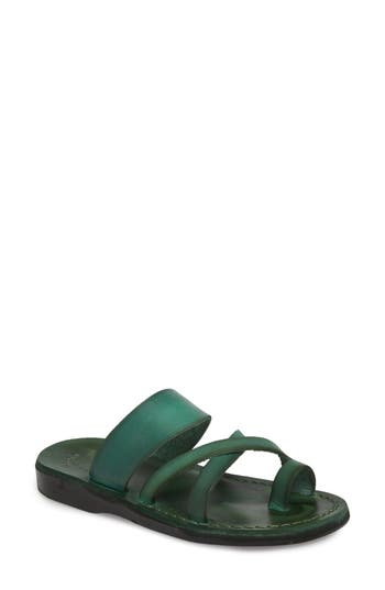 Women's Jerusalem Sandals The Good Shepherd Sandal, Size 7US / 38EU - Green