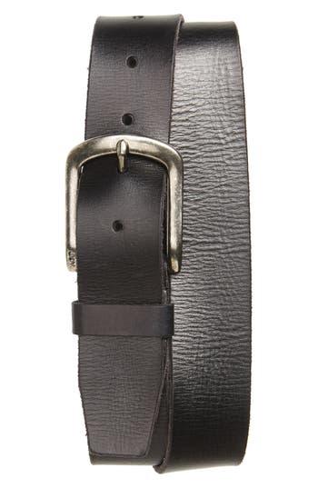 John Varvatos Star Usa Classic Leather Belt, Black