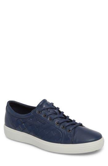 Ecco Soft 7 Woven Sneaker, Blue