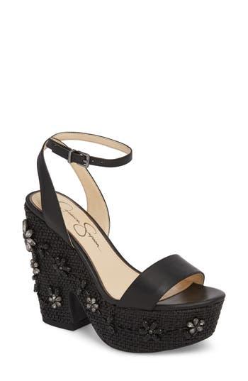 Jessica Simpson Cressia Platform Sandal, Black