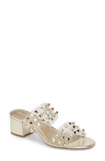 The Kenzie Studded Sandal, Gold