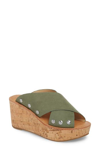 Women's Chinese Laundry Oahu Platform Wedge Sandal, Size 10 M - Green