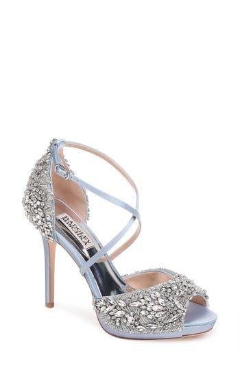 Badgley Mischka Hyper Crystal Embellished Sandal- Blue