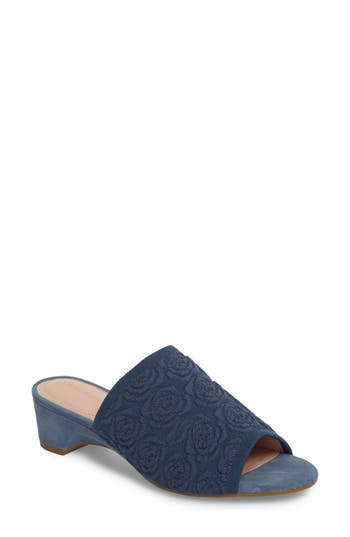 Taryn Rose Nancy Slide Sandal- Blue