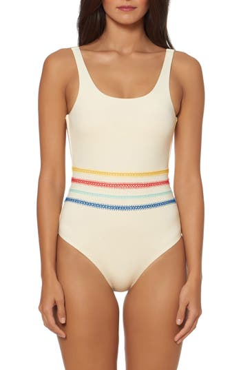 Dolce Vita Embroidered One-Piece Swimsuit
